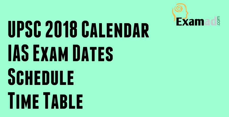 Upsc 2018 Calendar books