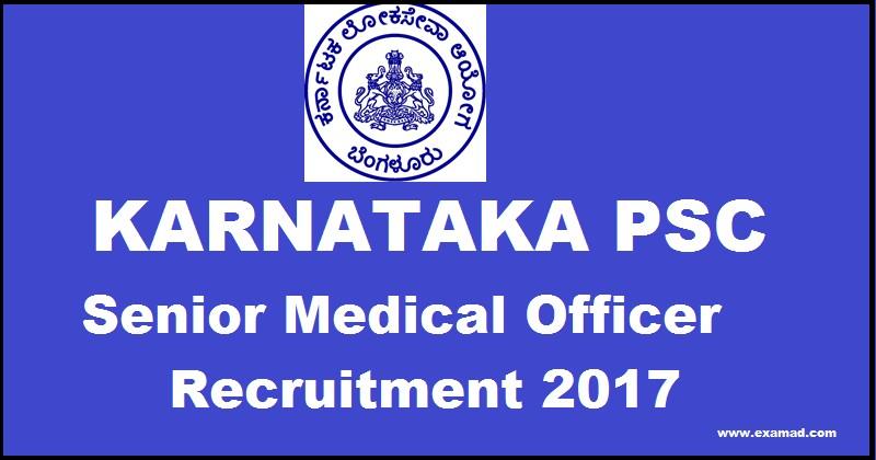 KPSC Medical Officer Recruitment 2017
