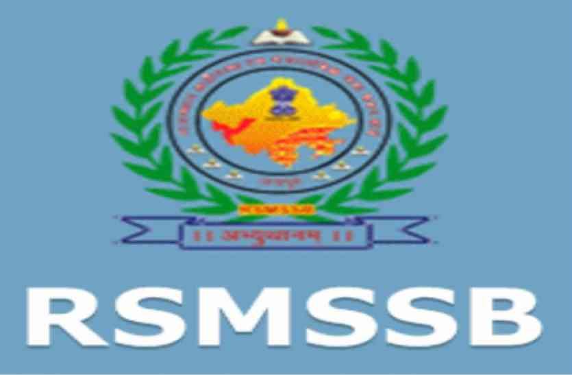 RSMSSB Informatics Assistant Recruitment 2018