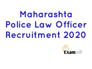 Maharashtra police Law Officer Recruitment 2020