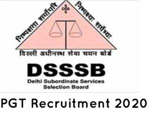 DSSSB PGT Recruitment 2020