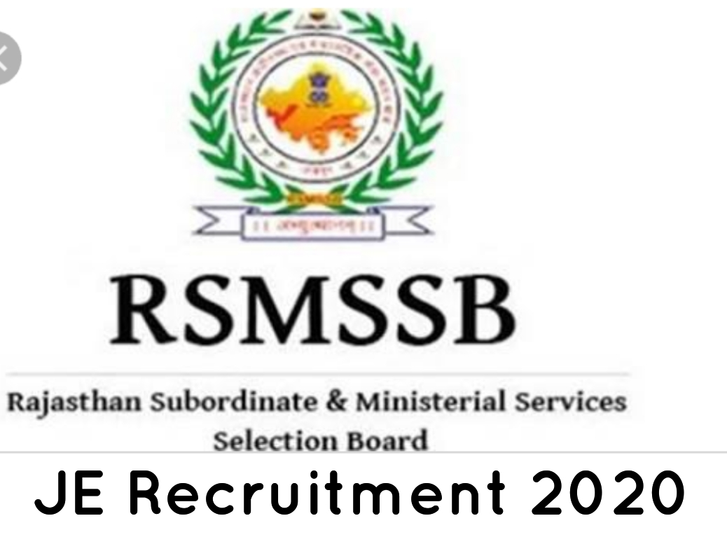 Rajasthan JE Recruitment 2020