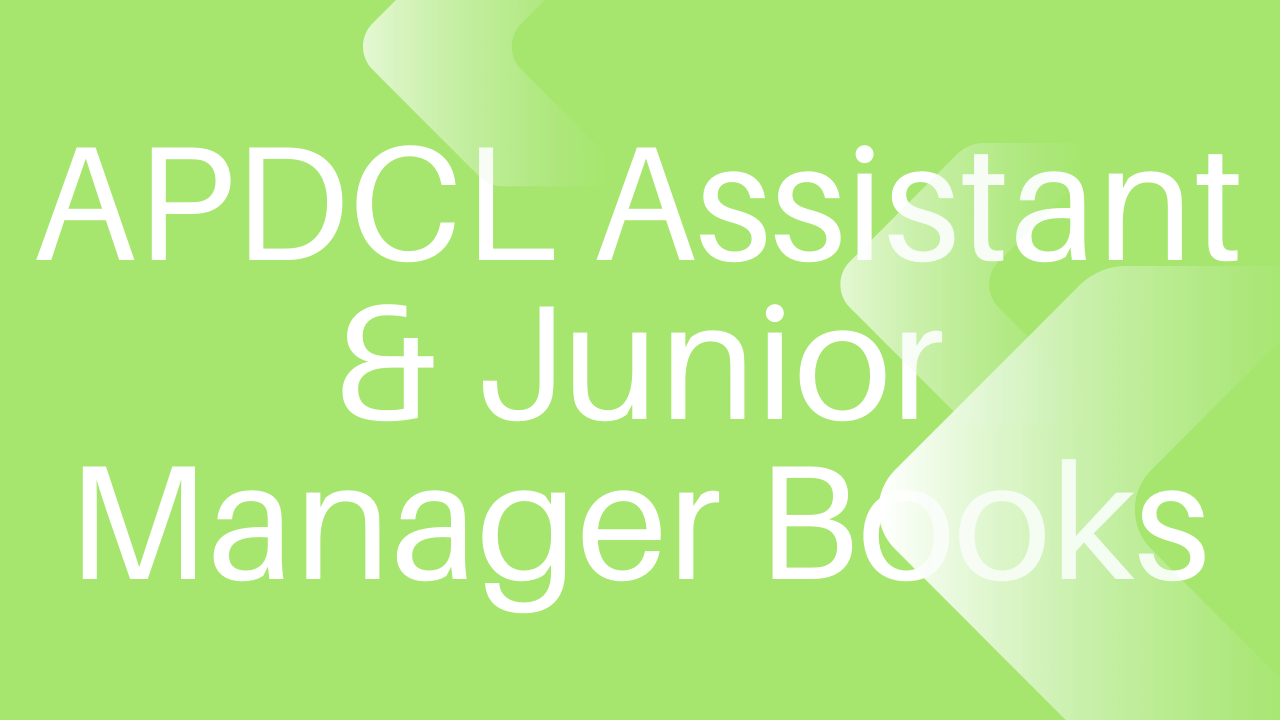 APDCL Assistant Manager Books