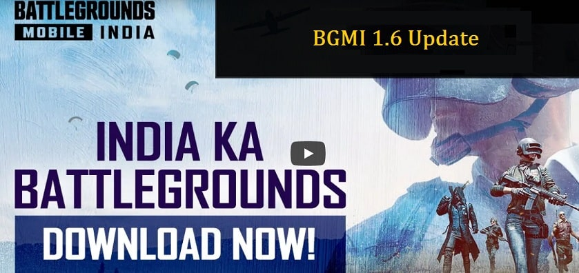 BGMI 1.6 Update Download APK OBB